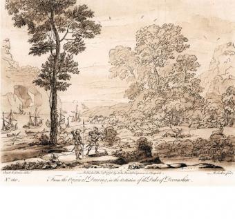 Paesaggio con Enea che caccia il cervo