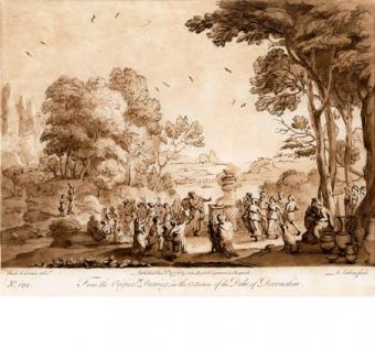 Paesaggio con gli israeliti che adorano il vitello di metallo