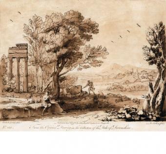 Paesaggio con le tre colonne di Giove Statore